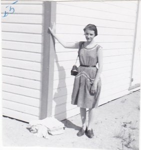 Une photo de moi, à l'été 1955. © Coll. Madeleine Genest Bouillé.