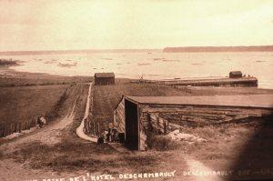 Descente du quai (source: Centre d'archives régional de Portneuf).