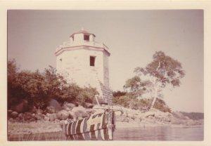 Le plus vieux des deux phares, en 1970 (photo: Fernand Genest).