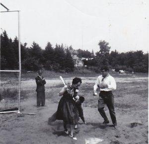 Un essai à la balle molle, été 1962.