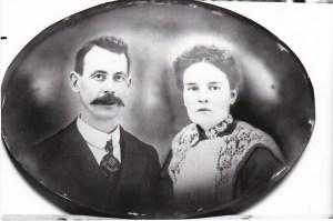 Alvine et Joseph Genest, en 1903.