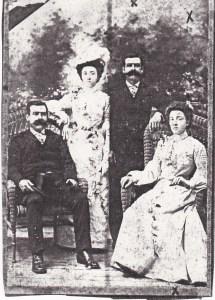"""Photo de mariage d'Edmond et Blanche (la photo """"double"""" était à la mode à cette époque)."""