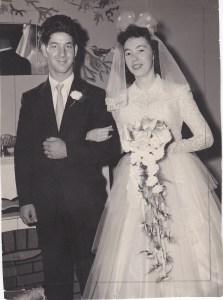 Mariage de ma sœur Élyane en 1957.