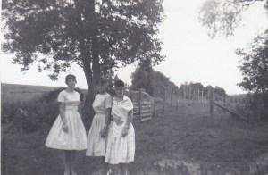 En 1960, avec mes amies du