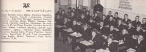 Classe de Mère Sainte Flavie, au couvent, 1961.