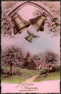 Ancienne carte postale de Pâques.
