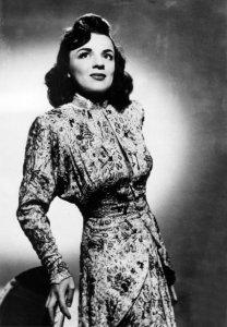 Alys Roby en 1947, alors au sommet de sa gloire.