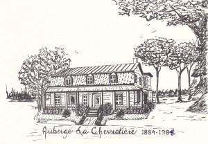 Dessin de Lucille Bouillé, représentant l'Auberge Lachevrotière.