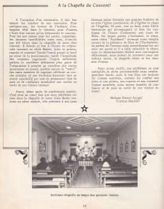 Extrait chapelle Centenaire du couvent Deschambault 1961