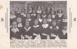 Extrait classe centenaire du couvent Deschambault 1961