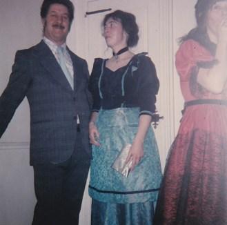 Odilon et Élyane lors d'un bal d'époque au Vieux Presbytère (©Coll. privée Madeleine Genest Bouillé).