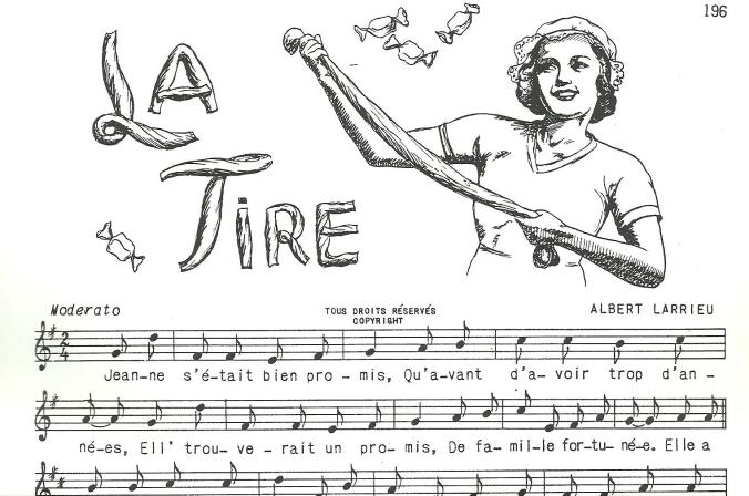 Extrait des cahiers de la Bonne Chanson: La Tire, d'Albert Larrieu.