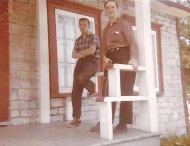 Mon frère Florent et Papa (coll. privée Madeleine Genest Bouillé).