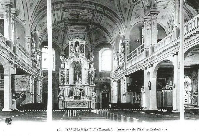 Ancienne carte postale de l'église...