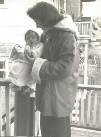 Avec Laurent, le premier bébé de la famille Genest!