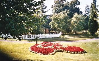 """Aménagement de fleurs dans les Jardins du cap Lauzon (ancien """"champ du Curé"""")."""