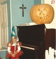 Soirée d'Halloween au Vieux Presbytère en 1981.