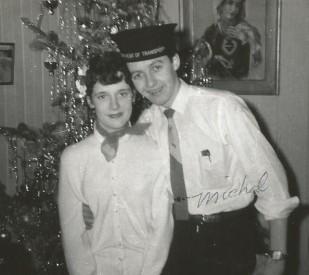 Cousin Michel avec son amie (1958).