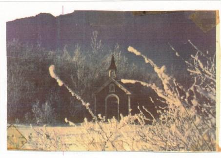 Chapelle saint Antoine au cimetière vers 1970 (crédit photo: Fernand Genest).